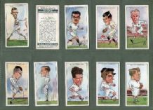 Tobacco cards set  cigarette card  Rugby Internationals 1929